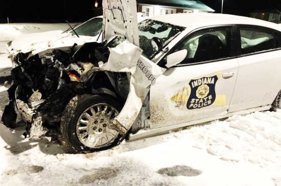 Local News: Trooper escapes serious injury as vehicle struck