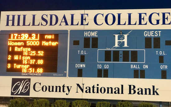 Hilldale Wind O Meter Registers >> College Sports Wilson Places Second At Hillsdale 4 29 19